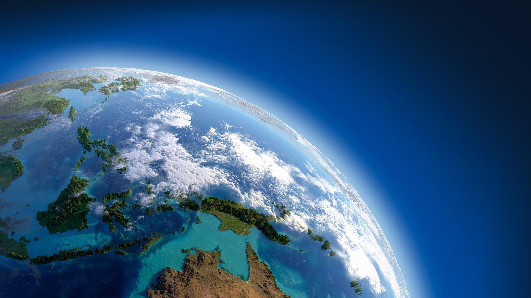 Atmosfæren består af forskellige luftlag, der omgiver Jorden.